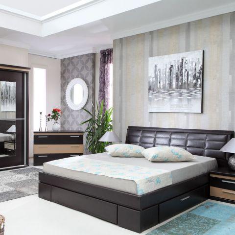 Dormitor Pallas Wenge, Pat 1600 mm.