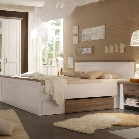Set Dormitor Leon, Pin Alb & Truffle, Pat 1800