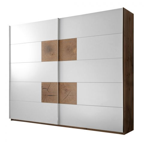 Dulap cu usi culisante Castello, Alb & Stejar Salbatic, 2700 x 2250 x 600 mm.