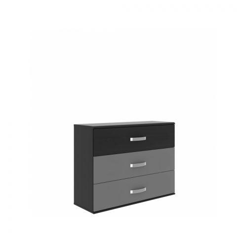 Comoda Delice, Negru, 1004 x 824 x 413 mm.