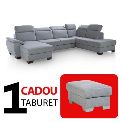 Coltar extensibil cu lada DAX, Dreapta + Cadou Taburet
