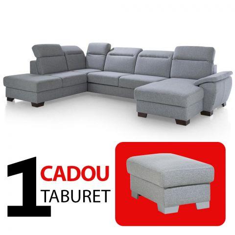 Coltar extensibil cu lada DAX, Stanga + Cadou Taburet
