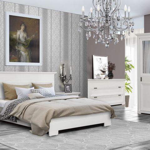 Dormitor Verona Bianco, Alb, Pat 1600 mm.