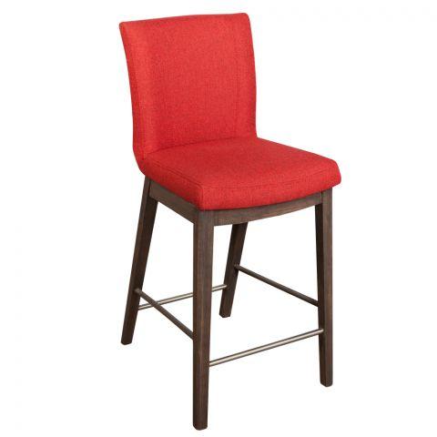 Scaun Bar Sofie, Roșu, 430 x 570 x 990 mm.