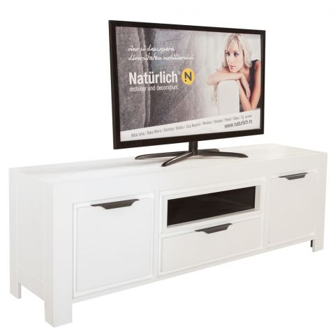 Comoda TV Cube Alb, 1660 x 420 x 570 mm.