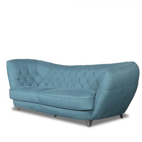Canapea fixa Retro, Albastru, 2560 x 1150 mm., Stanga